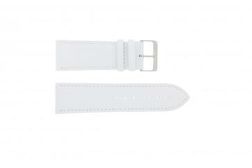 Horlogeband Universeel 306.09 Leder Wit 26mm