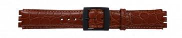 Horlogeband Swatch SC10.03 Leder Bruin 17mm