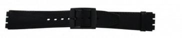 Horlogeband Swatch SC15.01 Leder Zwart 16mm