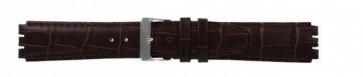 Band passend aan Swatch donker bruin leder 17mm 21414