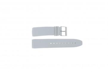 Davis horlogeband BB1544 Leder Wit 22mm