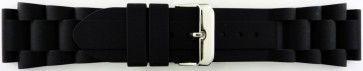 Horlogeband Universeel SL101 Silicoon Zwart 20mm