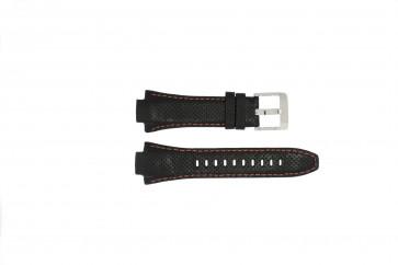 Horlogeband Seiko 7L22-0AE0 / SNL017P1 / 4KG8JZ /SNL021P9 Leder Zwart 15mm
