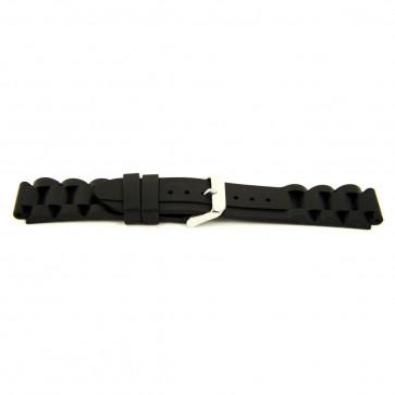 Horlogeband WoW XH12 Silicoon Zwart 22mm
