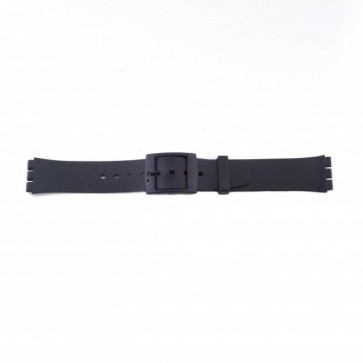 Horlogeband Swatch P51 Rubber Zwart 17mm