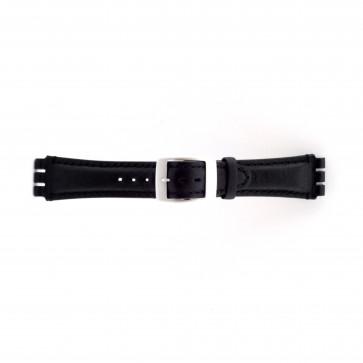 Horlogeband Swatch SC14.01 Leder Zwart 19mm