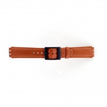 Horlogeband Swatch SC11.03 Leder Bruin 17mm