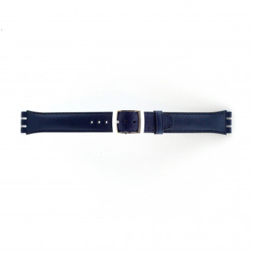 Band passend aan Swatch marine blauw 19mm