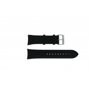 Swiss Military Hanowa horlogeband 06-4278.04.001.07 Leder Zwart + zwart stiksel