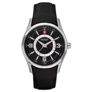 Horlogeband Swiss Military Hanowa 06-6155.04.007 Leder Zwart
