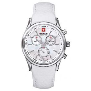 Horlogeband Swiss Military Hanowa 06.6156.04.001-87 Leder Wit
