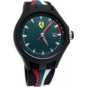 Ferrari horlogeband SF101.5 / 0830070 / SF689300050 Rubber Zwart 22mm
