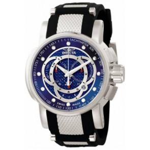 Horlogeband Invicta 0893.01 / 0894.01 / 0895.01 Rubber Zwart