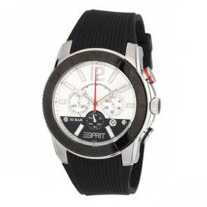 Esprit horlogeband ES101681006 Rubber Zwart 22mm