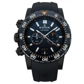 Horlogeband Edox 10301 / Loc-22 Rubber Zwart
