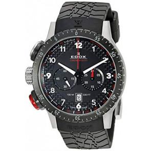 Horlogeband Edox 10305 Rubber Zwart 23mm