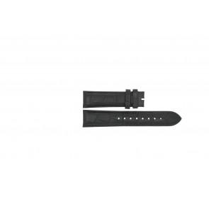 Esprit horlogeband ES103342006 Leder Zwart 20mm + zwart stiksel