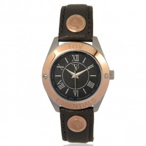 TOV Essentials horlogeband 1459 / TOV Leder Grijs 18mm + grijs stiksel