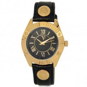 TOV Essentials horlogeband 1461 / TOV Leder Zwart 18mm + zwart stiksel