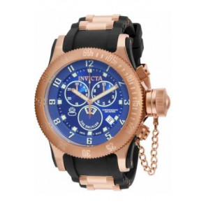 Horlogeband Invicta 15569.01 / 15568 Rubber Zwart 26mm