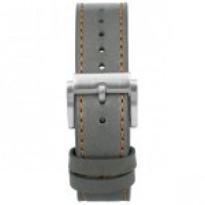 Horlogeband Prisma 1591 Leder Grijs 22mm