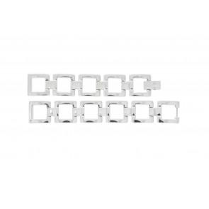 Lacoste horlogeband 2000490 / LC-05-3-18-0161 Staal Zilver 13mm