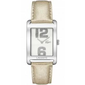 Horlogeband Lacoste 2000674 / LC-51-3-14-2261 Leder Beige 20mm