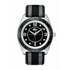 Horlogeband Lacoste 2010575 / LC-53-1-34-2267 Leder Zwart 24mm