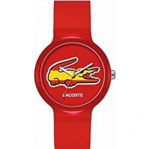 Lacoste horlogeband LC-46-4-47-2504 /2020071 / 20mm Rubber Multicolor 14mm