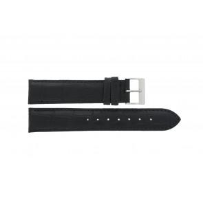 Horlogeband Edox 27028-2 Leder Zwart 19mm