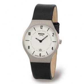 Horlogeband Boccia 3193-01 (BO811 X367S16) Leder Zwart 15mm