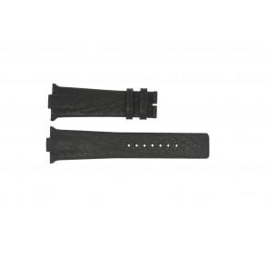 Horlogeband Boccia 3519-02 / 3519-03 Leder Zwart 28mm