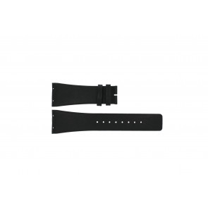Boccia horlogeband 3541-02 Leder Zwart 20mm