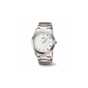 Horlogeband Boccia 3550 - 01 Staal Staal 22mm
