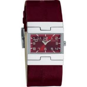 Horlogeband Dolce & Gabbana 3719251493 Leder Bordeaux 25mm