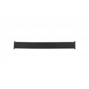 Horlogeband Universeel 382960 Staal Zwart 22mm
