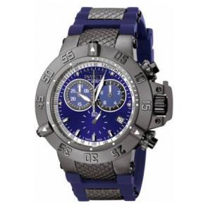 Horlogeband Invicta 5509.01 Staal/Silicoon Blauw