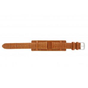 Horlogeband 61325.75.18 Leder Oranje 18mm + oranje stiksel
