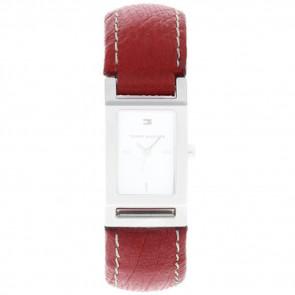 Horlogeband Tommy Hilfiger 679300818-8471503 Leder Rood