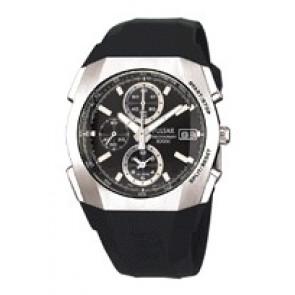 Horlogeband Pulsar 7T62-X121 Kunststof/Plastic Zwart