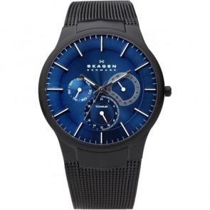 Horlogeband Skagen 809XLTBN Staal Zwart