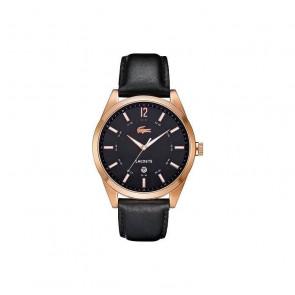 Horlogeband Lacoste 2010582 / LC-52-1-34-2266 Leder Zwart 22mm