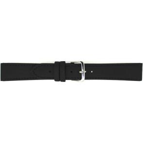 Horlogeband 823.01.10 Leder Zwart 10mm + zwart stiksel