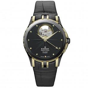 Horlogeband Edox 85012 Leder Zwart