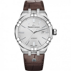 Horlogeband Maurice Lacroix Aikon AI6008-SS001-130-1 Leder Bruin 25mm