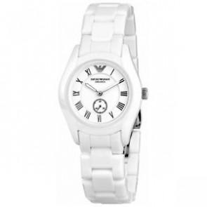 Horlogeband Armani AR1405 Keramiek Wit 18mm