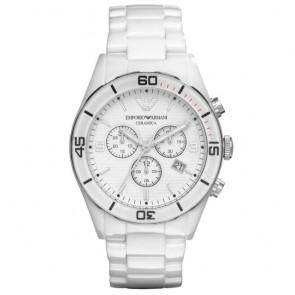Horlogeband Armani AR1424 Keramiek Wit