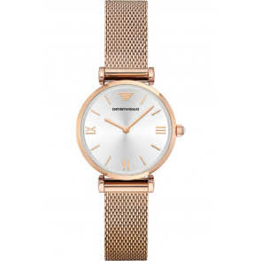 Horlogeband Armani AR1956 Staal Rosé