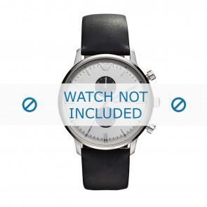 Horlogeband Armani AR0385 Leder Zwart
