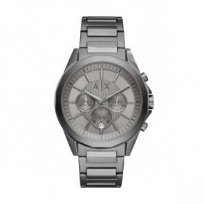 Horlogeband Armani Exchange AX2603 Staal Antracietgrijs 22mm